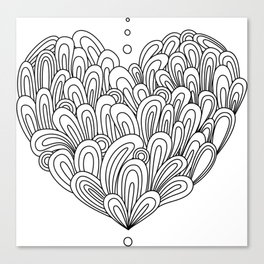 Swirlies in black Canvas Print