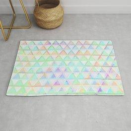 Bright Rainbow Geometric Triangle Pattern Design Rug