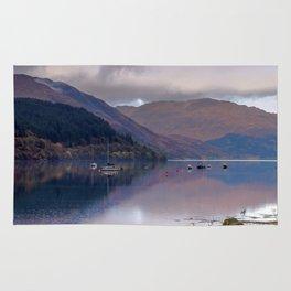 Argyll Scotland loch peaceful boats Rug