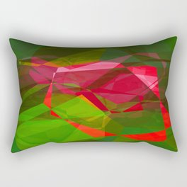 Pink Roses in Anzures 3 Abstract Polygons 2 Rectangular Pillow