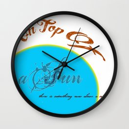 on top of a sun Wall Clock