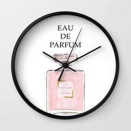 Pink Parfum Wall Clock