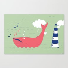 The Singing Whale Canvas Print