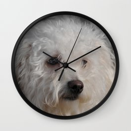 White Puppy Wall Clock