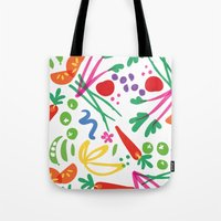 health Tote Bags featuring Picture of Health by ColorisBrave