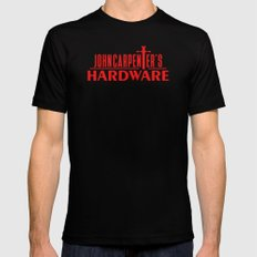 John Carpenter's Hardware RED - Novelty Mens Fitted Tee Black MEDIUM