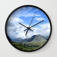 norway Wall Clocks featuring Rondane - Norway by AstridJN