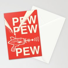 Pew Pew Pew Stationery Cards