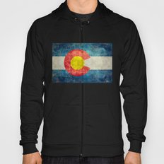 Retro Vintage Colorado State Flag Hoody
