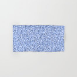 Coleus leaves pattern in blue and white Hand & Bath Towel