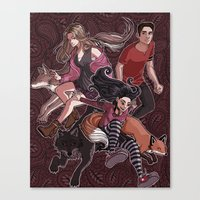 paisley Canvas Prints featuring paisley by callahaa