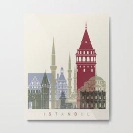 Istanbul skyline poster Metal Print