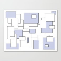 Squares - blue and white. Canvas Print