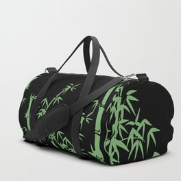 Bamboo design green - black Duffle Bag