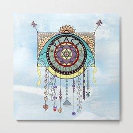 Peace Kite Dangle Metal Print