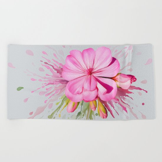 Color Eruption Beach Towel