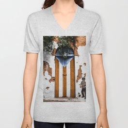 Puerto Rico Door Unisex V-Neck