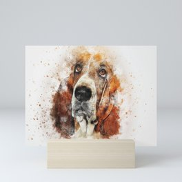 Basset Hound (Abstract Dog) Mini Art Print