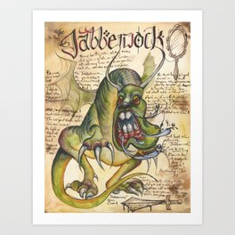 Jabberwock from the Field Guide to Dragons Art Print