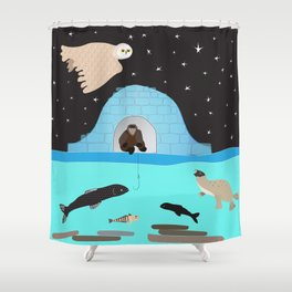 The Fisherman Shower Curtain