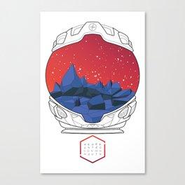 Helmet I (Red Space) Canvas Print