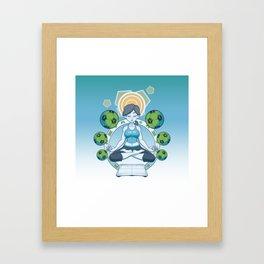 Get Fit - Blue Framed Art Print