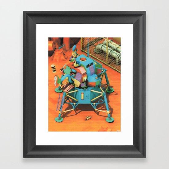 THE LANDER HAS LANDED Framed Art Print