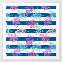 Colorful Tropical Pattern Art Print