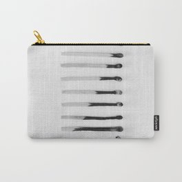USED - MATCHSTICKS - ON - WHITE - BACKGROUND - PHOTOGRAPHY Carry-All Pouch