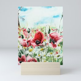 Summer fields Mini Art Print