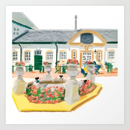 AFTERNOON TEA IN SURREY Art Print