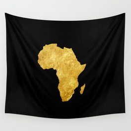 Gold Africa Wall Tapestry
