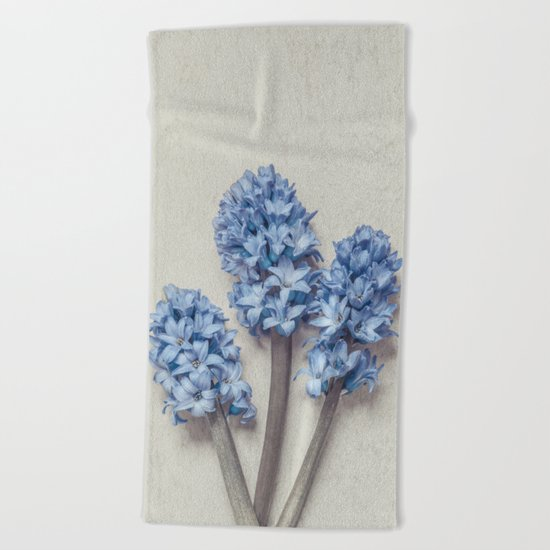 Light Blue Hyacinths Beach Towel