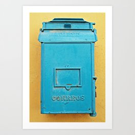 Old Havana Mailbox Art Print