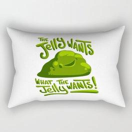 The jelly wants... Rectangular Pillow