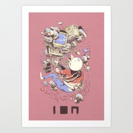 Blue Screen, Back form the Dead (CORAL) Art Print