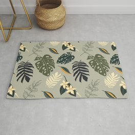 Gold in the Tropical Jungle  Rug