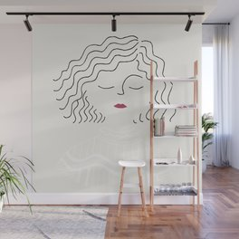 Sophie in white dress Wall Mural