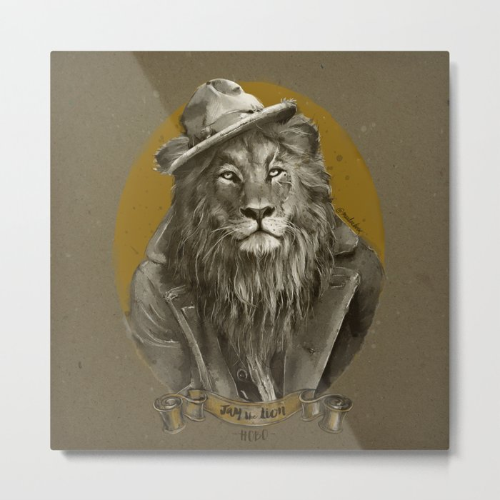 Jay the Lion - Hobo Metal Print