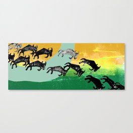 The Great Wildebeest Migration Canvas Print