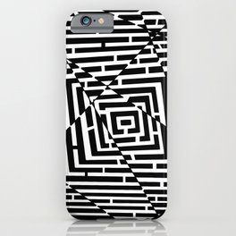 Patt B/N iPhone Case