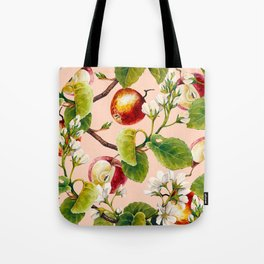 White apple blossoms and apples Tote Bag