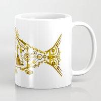 cyberpunk Mugs featuring Cyberpunk fish by Oceloti