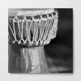 djembe drum African music aesthetic close up elegant mood art photography Metal Print
