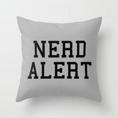 Nerd Alert Funny Quote Throw Pillow