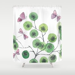a touch of summer fragrance - white background Shower Curtain