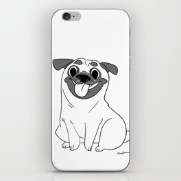 Pug Lineart iPhone Skin