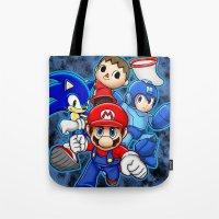 smash bros Tote Bags featuring Super Smash Bros  by Blaze-chan