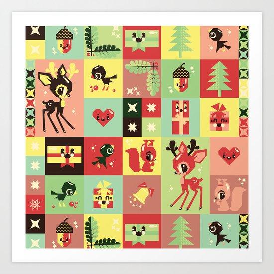 Christmas Geometric Pattern No. 2. Art Print