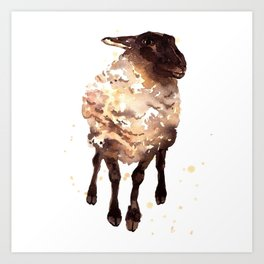 Silly Ewe Art Print